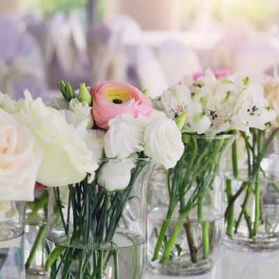 The two main options for a Wedding Reception in Mykonos by Mykonos Catering Services.
